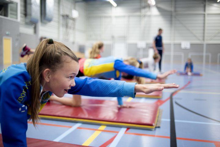 Sporten in gymzaal