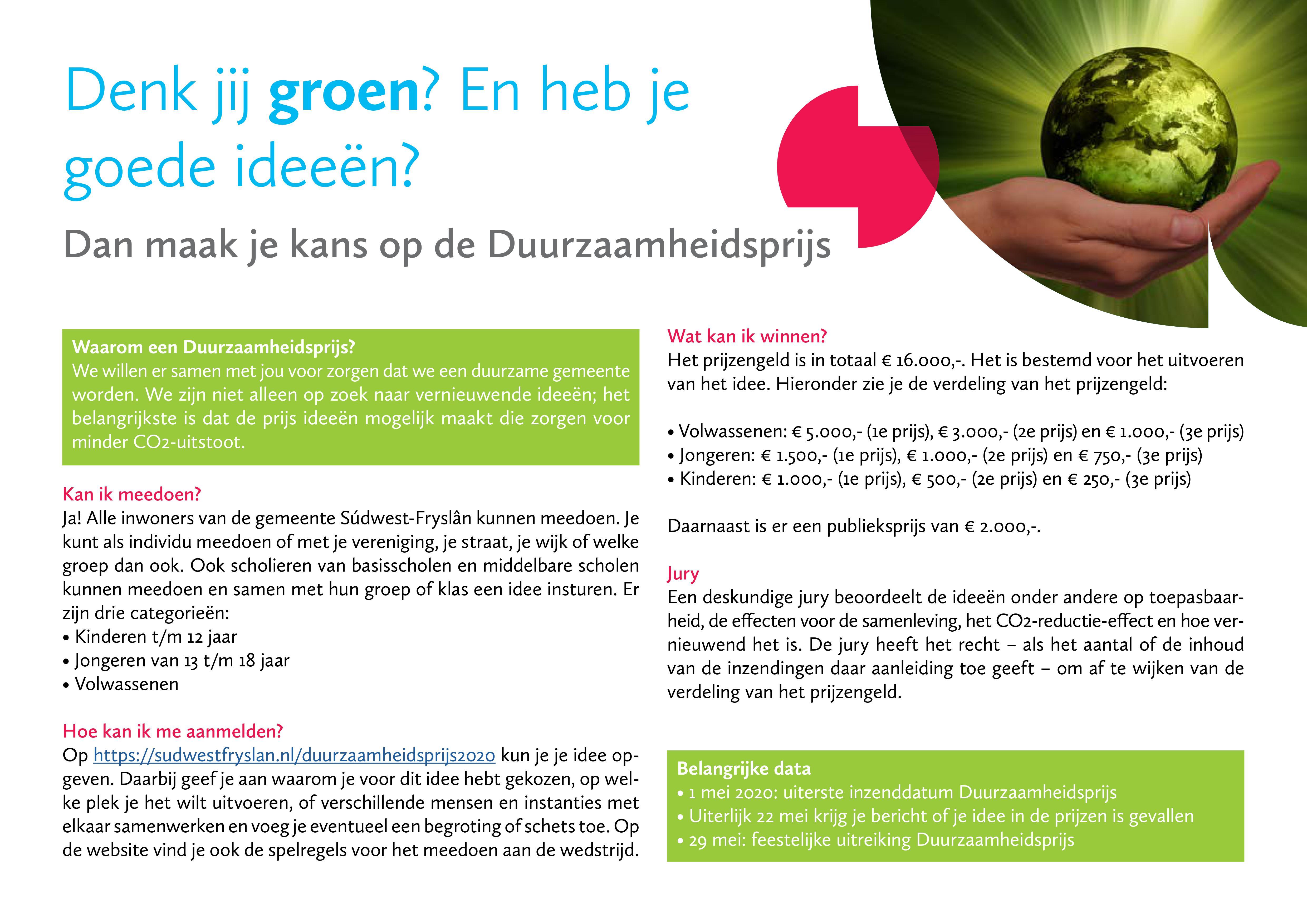Poster Duurzaamheidsprijs