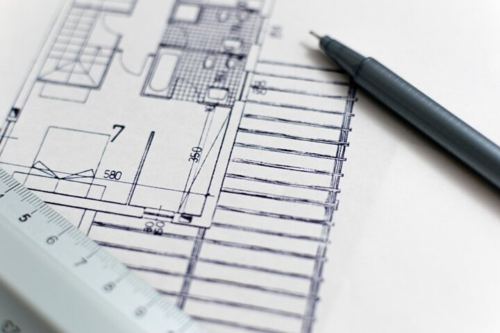 Afbeelding van een bouwtekening